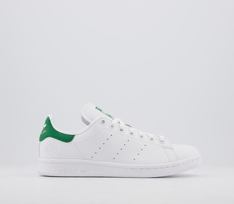 adidas Stan Smith Trainers White Green White Vegan