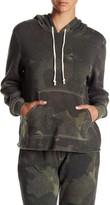 Alternative Eco Fleece Camo Raw Edge Hoodie