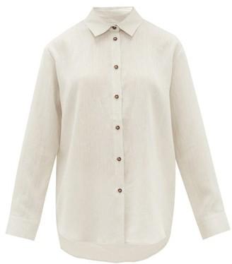 ASCENO Milan Organic-linen Shirt - Ivory