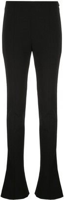 Thierry Mugler extra-long flared bottom trousers