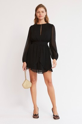 Finders Keepers BIJOU LONG SLEEVE MINI DRESS Black