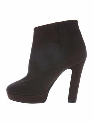Barneys New York Suede Boots Metallic