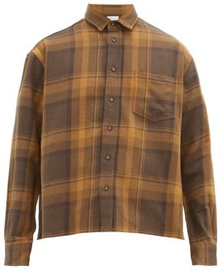 John Elliott Hemi Oversized Checked-flannel Shirt - Mens - Brown