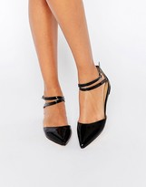 London Rebel Two Part Ankle Strap Flat Shoes