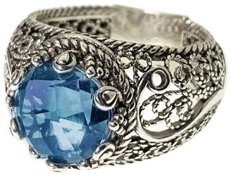 Artisan Crafted Sterling Gemstone Filigree Ring