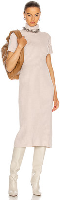 STAUD Lilou Dress in Light Oatmeal | FWRD