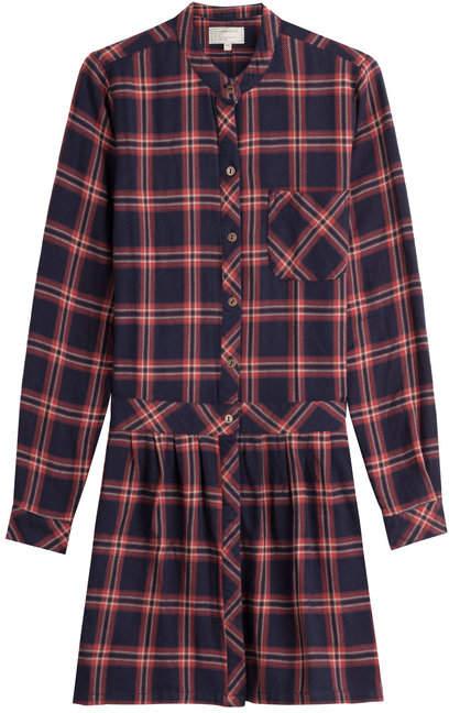 Current/Elliott Printed Cotton Shirt Dress