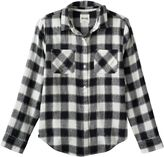 Mudd Girls 7-16 & Plus Size Side-Split Flannel Button-Down Shirt