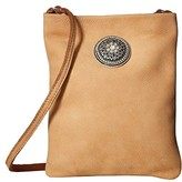 Leather Rock Della Cell Pouch (Dark Beige) Cross Body Handbags