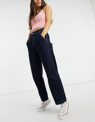 Pepe Jeans Mellany high waist workwear jeans in indigo