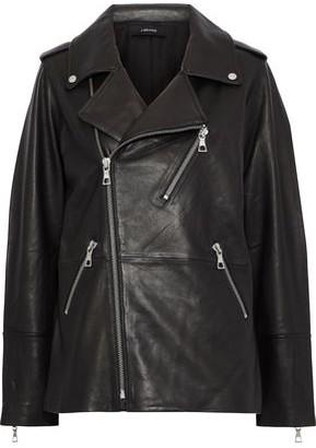 J Brand Eden Oversized Leather Biker Jacket