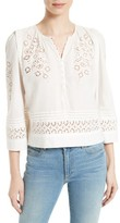 Rebecca Taylor Women's Adeline Eyelet Embroidered Top
