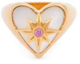 Mother of Pearl Theodora Warre - Ruby, Mother-of-pearl & Gold-vermeil Ring - Womens - Gold