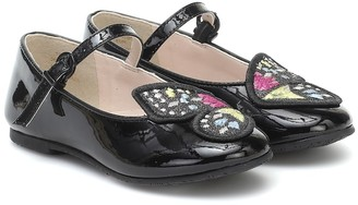Sophia Webster Mini Butterfly patent leather ballet flats