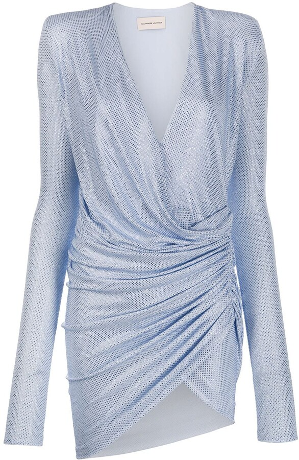 Alexandre Vauthier Rhinestone-Embellished Ruched Dress