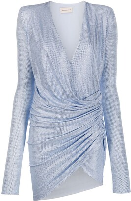 Alexandre Vauthier rhinestone-embellished ruched dress