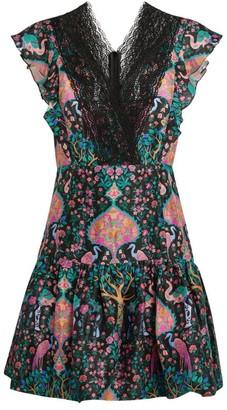 Sandro Paris Floral Lace Mini Dress