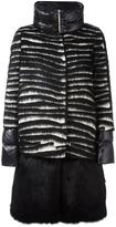 Herno faux fur panel padded coat