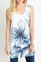 Karen Kane High Slit Floral Tunic