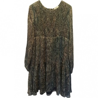 Masscob Green Silk Dress for Women