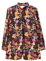 MANGO Floral short jumpsuit