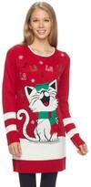 "It's Our Time Juniors' Fa La La"" Kitty Christmas Tunic"