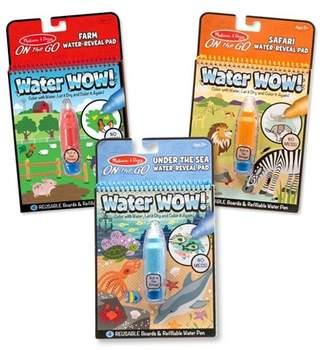 Melissa & Doug Water Wow! - Water Reveal Pad Bundle - Farm, Safari & Under The Sea