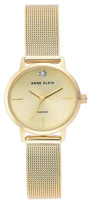 Anne Klein Women's Diamond Mesh Bracelet Watch, 26mm - 0.005 ctw