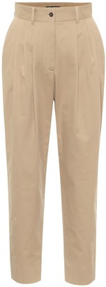 Dolce & Gabbana High-rise stretch-cotton twill pants