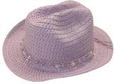 Sundaise Girls Paper Braid Beaded Cowboy Hat