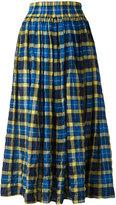 Aspesi elasticated waist checked skirt - women - Cotton/Polyurethane/Lyocell - 42