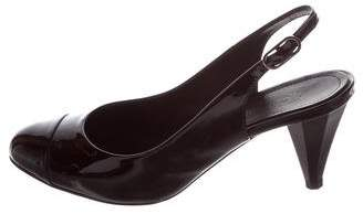 Chanel Patent Leather Slingback Pumps