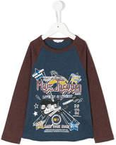Little Marc Jacobs logo print longsleeved T-shirt