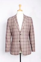 Boga Windowpane Wool & Cashmere Modern Fit Blazer