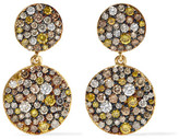 Ileana Makri Double Disc 18-karat Gold Diamond Earrings - one size