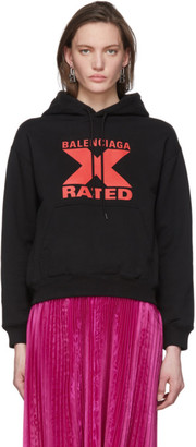Balenciaga Black X-Rated Hoodie