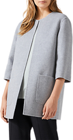 Jigsaw Double Faced Jacket, Pale Grey