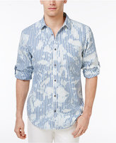 INC International Concepts Men's Striped Splatter-Print Shirt, Created for Macy's