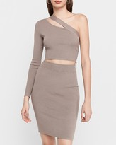 Express Ribbed Pencil Skirt