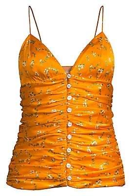 Caroline Constas Women's Mimi Floral Button-Up Cami