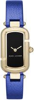 Marc Jacobs Women's The Jacob Metallic Blue Leather Strap Watch 20x31mm MJ1501