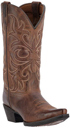 Laredo Womens Fade To Cat Cowboy Boots Block Heel