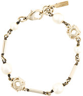 Salvatore Ferragamo double Gancio pearl bracelet