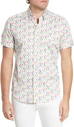 Robert Graham Bryant Regular Fit Short Sleeve Button-Up Shirt