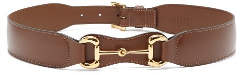 Gucci Horsebit Leather Belt - Brown