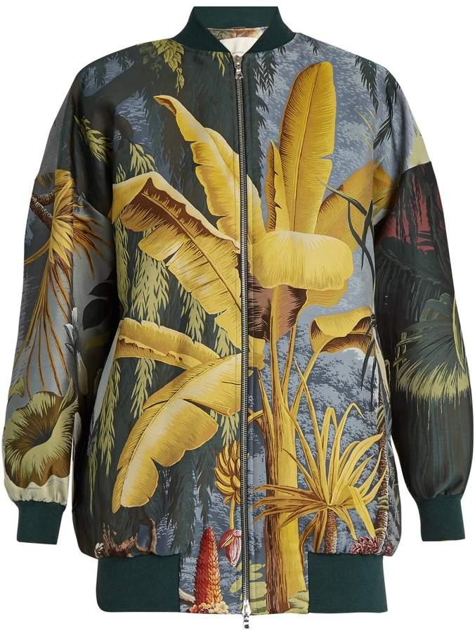 ADAM by Adam Lippes Eden-print jacquard bomber jacket