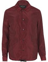 River Island Burgundy Coach Jacket