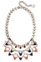 Adia Kibur Women's Layered Stone Bib Necklace
