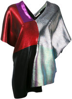 Christopher Kane laminated patch top