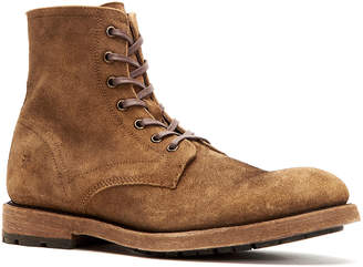 Frye Bowery Distressed Suede Side-Zip Boots w/ Laces
